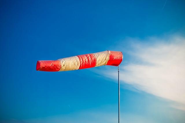 vindhastigheten mäts.