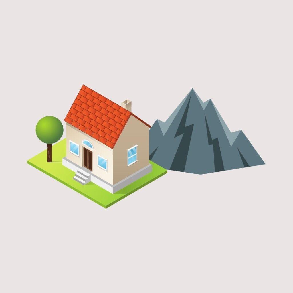 Hus med bergvärme