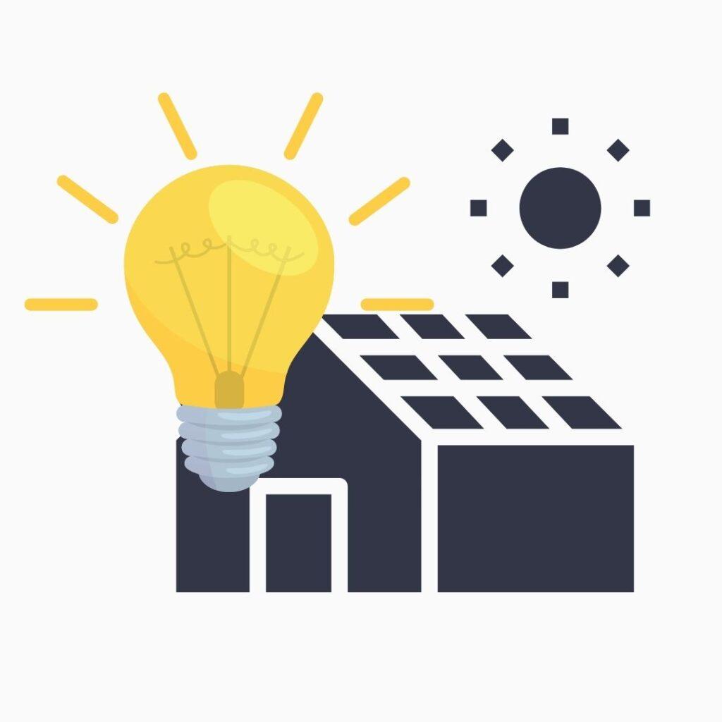 Hus som producerar solel